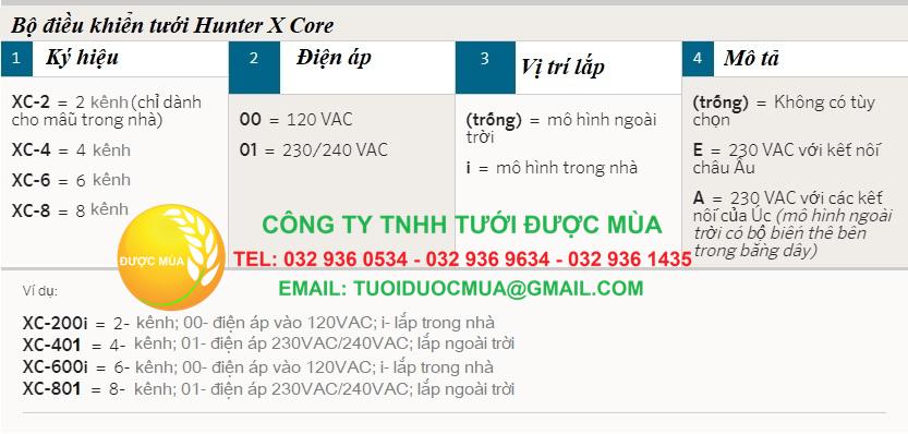 Thông tin bộ điều khiển Hunter X core